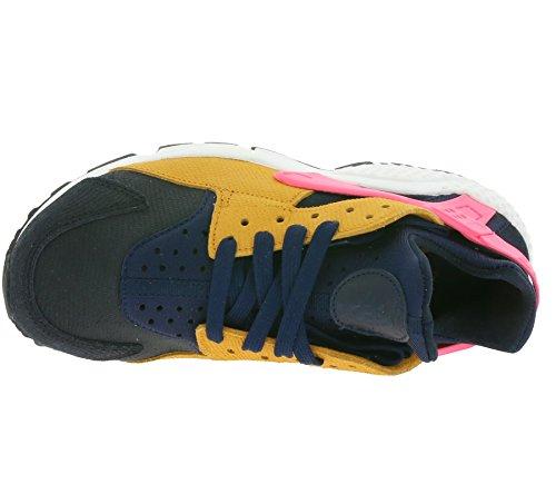Nike Womens Air Huarache Run Sneakers Fashion Premium Ossidiana / Nero-tramonto-digitale Rosa
