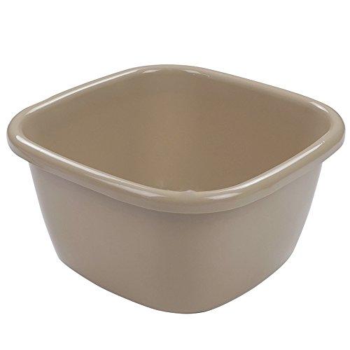 (Eagrye 18 Quart Large Plastic Wash Basin, Khaki, F)