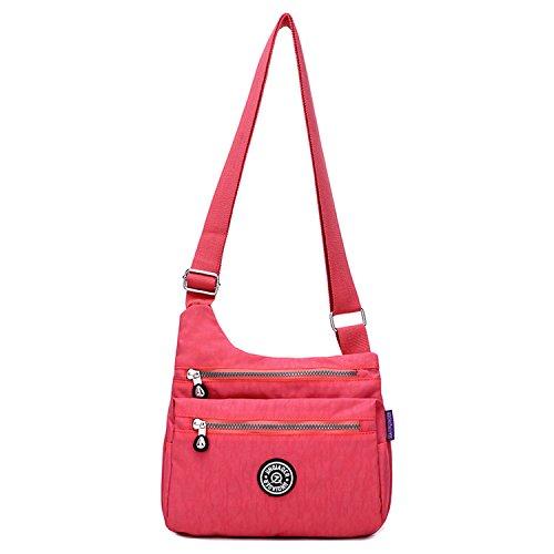 Besace Fille Rouge Main Léger Pour Mode Femme De Porté 1 Sac À Épaule Sport Bag Bandoulière Sacoche Imperméable Loisir Outreo Petit pqgwFU