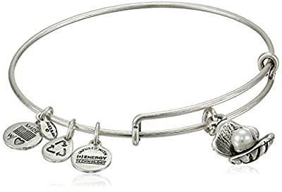 Authentic Alex And Ani Oyster Charm Bangle Bracelet, A10EB141R