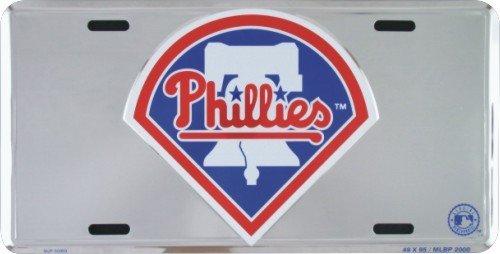 HangTime Philadelphia Phillies Super Stock metal auto tag mirror background