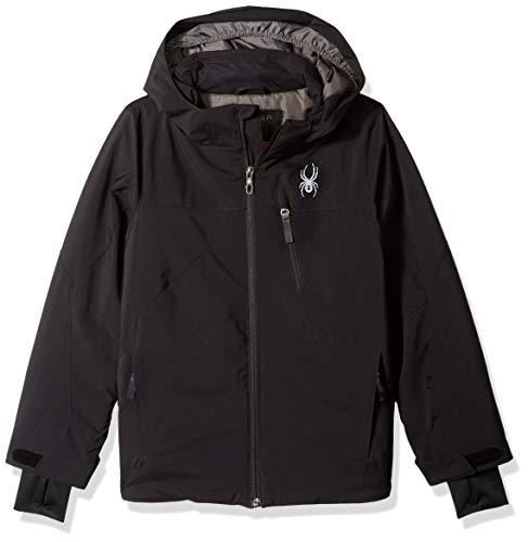 Spyder Boys' Ambush Ski Jacket, Black/Black/Black, Size ()