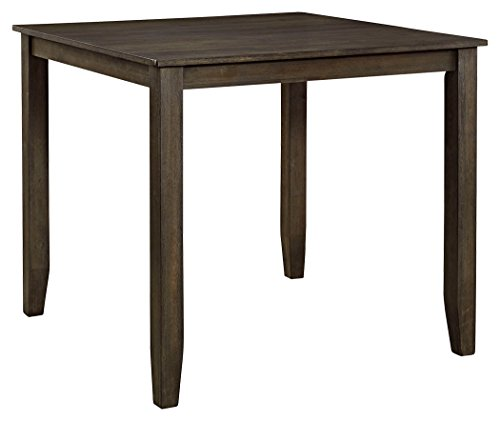 Ashley Furniture Signature Design - Dresbar Square Dining Room Table - Contemporary Counter Height Table - Grayish Brown