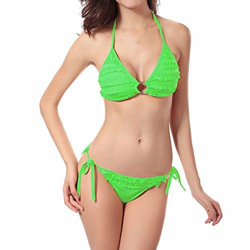 Per Gioca Elemento Verdi Bikini Costume Le Da Costumi Petali Bagno Da Donne Di Un Sole Acqua Xinvision Mare Al Dimensioni Bagno Vacanza Di D'estate RgxwxFO