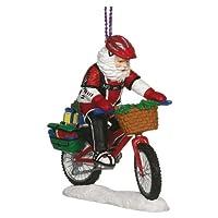 Mountain Bike Santa Ornament