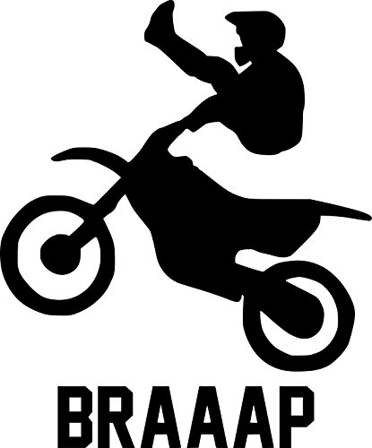 Motocross Rider Vinyl Decal Sticker | Cars Trucks Walls Vans Windows Laptops | Black | 5.5 X 4.5 Inches | KCD1817B (Girl Fox Window Decals)