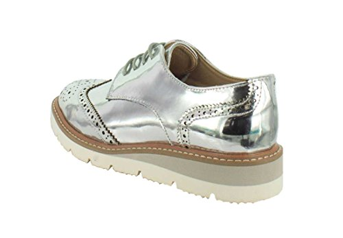 Wanted Wanted Silver Downey Downey Womens Oxford Wanted Womens Womens Silver Oxford Onnqvw5Tx