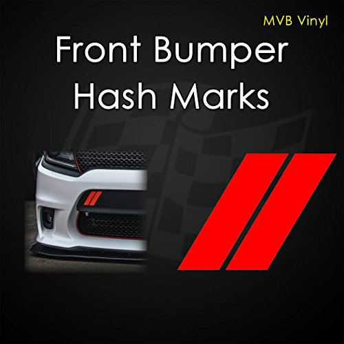 Front Bumper Hash Marks Vinyl Decal Body Graphics   Dodge Charger Challenger RAM