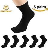 PACKGOUT #1 MENS 5 PAIRS TOE SOCKS Breathable & Comfortable Running Toe Socks