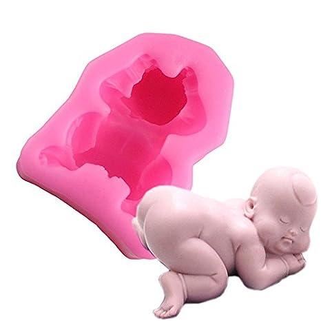 DAMUXIN 3D Molde de Silicona para bebés Jabón Vela Moldes de ...