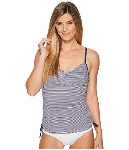 prAna Moorea Tankini, Indigo Stripe, Small (Athleta Swimwear)