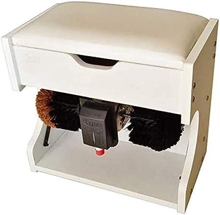 Calzado eléctrico Pulidor de zapatos Máquina Brillo, zapatos sensor eléctrico automático de Polonia y máquina de limpieza con la caja de madera de almacenamiento automático pulidor de zapatos (Tamaño: Amazon.es: Hogar