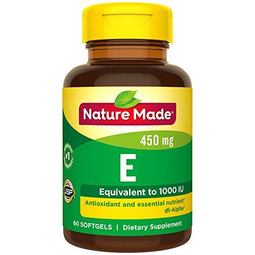 - Nature Made Vitamin E 1000 IU (dl-Alpha) Softgels 60 Ct