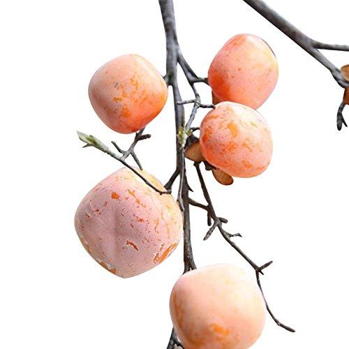 Owill Artificial Flower Persimmon Fruit Berries Bouquet Floral Garden Home Decor (A, Orange)