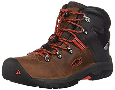 KEEN - Kids Torino II Mid Waterproof Winter Boots,Tortoise Shell/Firey Red,1 M US Little Kid