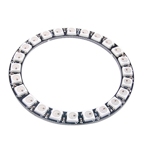 DIYmall 24 Bits 24 X WS2812 5050 RGB LED Ring Lamp Light with Integrated Drivers