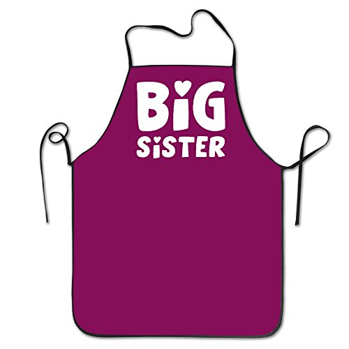 Price comparison product image Unisex Big Sister Sibling Gift Elder Sister Adult Funny Kitchen Apron