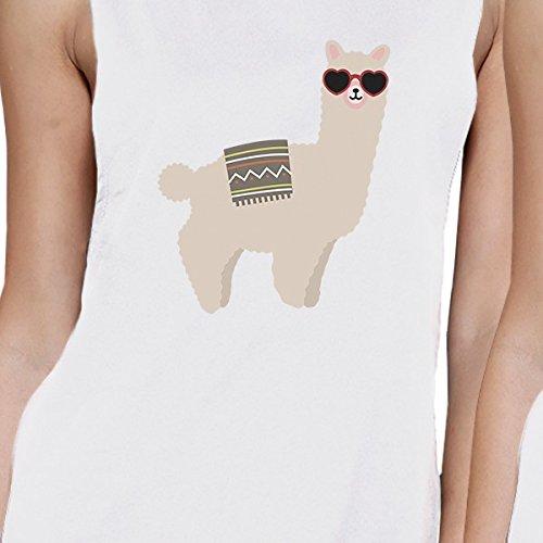 mujer con sol Camiseta tama o sin blancas Llamas o de gafas estampada tama 365 mangas para PSBX1q