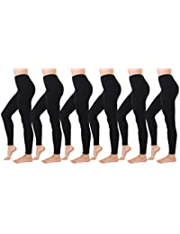 6 Pack Seamless Lounge Leggings - Fleece Lined Tights