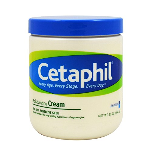 Cetaphil Moisturizing Cream for Dry, Sensitive Skin, Fragrance Free, Non-comedogenic (80 Oz) ,Cetaphil-dfey