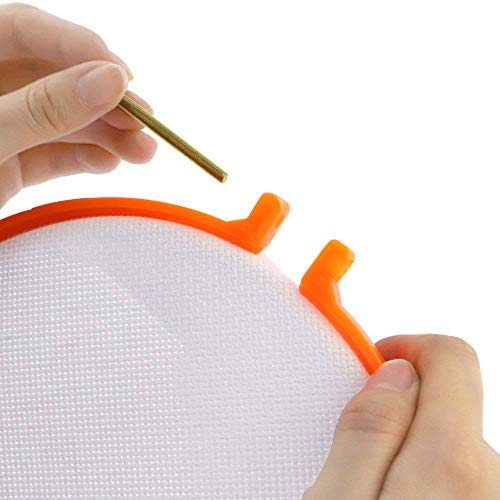 Cocoboo 5pcs Embroidered Aida Cross Stitch Cloth with Embroidery Hoop and Needles