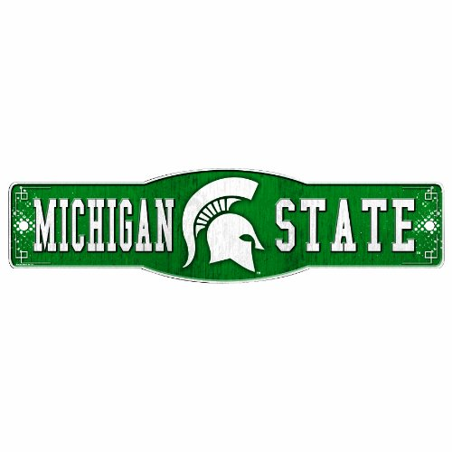 - NCAA Michigan State Spartans  4.5-by-17 Sign