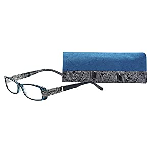 SAV Eyewear (Select-A-Vision) Victoria Klein Fashion Rectangular Reading Glasses 9072 Blue, 2.50