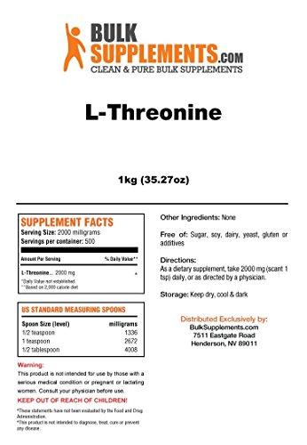 BulkSupplements L-Threonine Powder 5 Kilograms