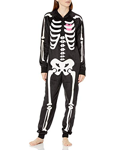 Cozy Zoe Womens Skeleton Onesie Wearable Blanket