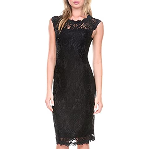 Stanzino Cocktail Dress | Women's Sleeveless Lace Dresses for Special Occasions Black Large - Couture Formal Dresses