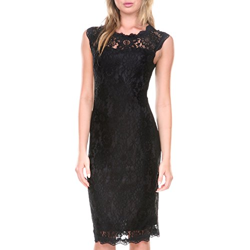 Buy black lace dress under 50 - 3