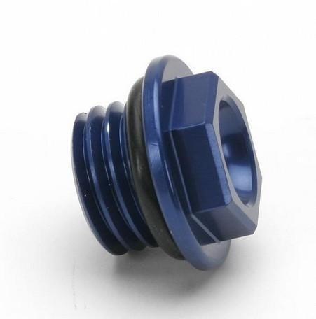 Works Connection Oil Filler Plug - Blue 24-191
