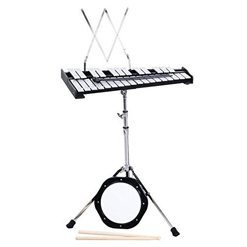 Giantex Percussion Glockenspiel Bell Kit 30 Notes w/Practice Pad +Mallets+sticks+stand by Giantex