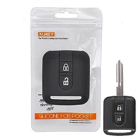 Amazon.com: Carcasa de silicona para llave de Nissan Qashqai ...