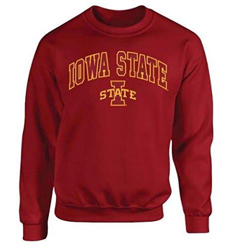 Iowa State Cyclones Crewneck Sweatshirt Arch Cardinal   L