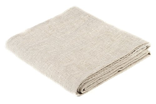 BLESS LINEN Natural Huckaback Pure Linen Bath Towel, Large, 30 x 58 Inches, Natural Grey Color