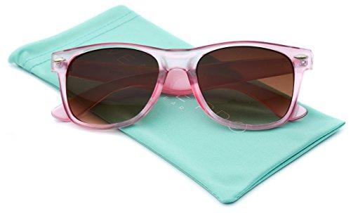 Hipster Fashion Retro Color Frame Wayfarer Sunglasses Pink