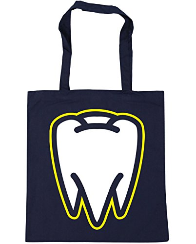 Tooth x38cm Navy Beach Tote 42cm HippoWarehouse litres French Gym Shopping Bag 10 HI0BPHdqw