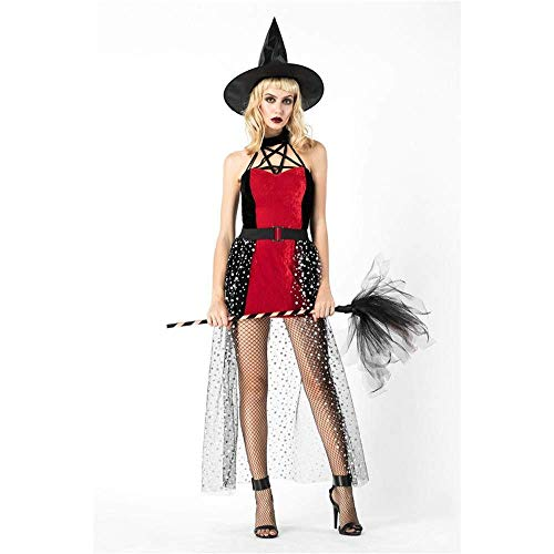 Fashion-Cos1 Halloween Costume Fairy Costume Forest Elf Dress Masquerade Adult Female Witch Cosplay Costumes]()