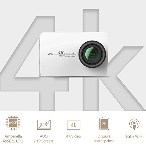 YI 4K Sports and Action Video Camera (US Edition) White Pearl