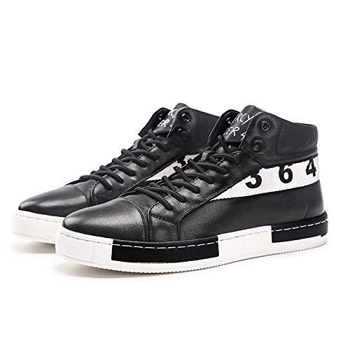 LOVDRAM Stiefel Männer Leder Herrenschuhe Leder Herbst Und Winter Mode Freizeitschuhe Sport Hohe Schuhe New Wild Tooling Schuhe