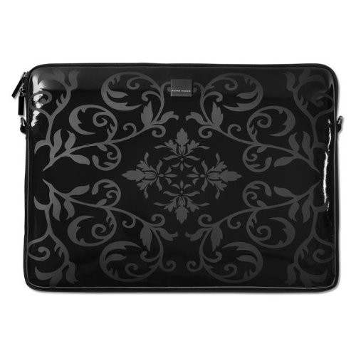 Acme Made Smart Laptop Sleeve, Netbook (Wet Black Antik) ()