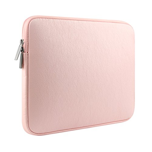 Touch Pink Leather Sleeve (GOHIGH PU Leather 14 - 15.4 Inch Laptop / Notebook / Ultrabook / MacBook Pro Retina/ 15