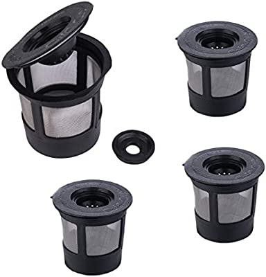 Reusable K Cups4 Pack Reusable Coffee Filter for Keuring Compatible with 10 BrewersK cup reusable