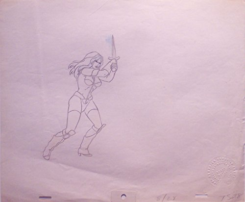 Original Production Drawing - Heavy Metal 1981 Original Production Cel Drawing from the Taarna Sequence