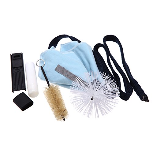 Andoer Saxophone Cleaning Tool KitCleaning Cloth+Cork Grease+Brush+Thumb Rest+Reed Case