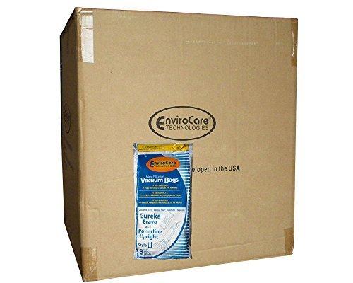 1/2 Case (25 pkgs) Eureka Style U Allergen Bags, Bravo II, Powerline, Direct Air, World Vac, White Westinghouse Upright Vacuum Cleaners, 57802A, 54310, 54310C, 54310B, 54310B-6, 57802B, 54918A-10 -