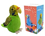 Vincilee Cute Mimicry Pet Talking Parrot Repeats What You Say Plush Animal Toy Electronic Parrot for...