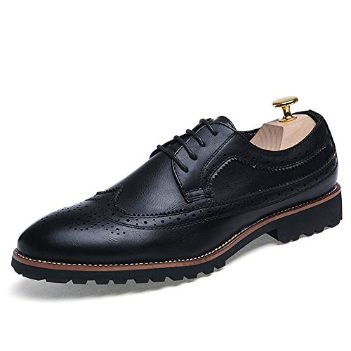 Classic Men's Business da Antiscivolo da Scarpe Oxford Nero Comode Intaglio Cricket Scarpe Casual rq6t0q
