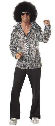 California Costumes Mens Disco Shirt - XL